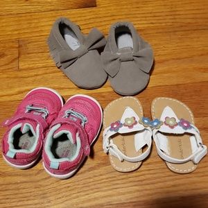 Lot of size 3 toddler girl shoes